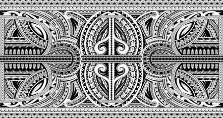 Polynesian style sleeve tattoo ornament Vectores