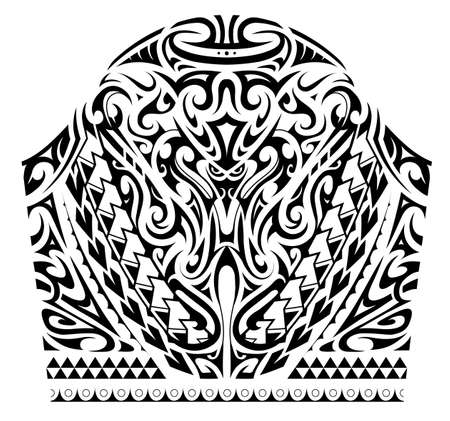 Polynesian ornamental tattoo design. Good for sleeve area patterns