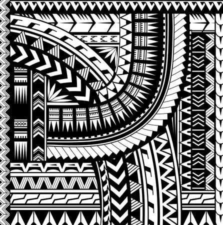 Maori style ornament. Ethnic theme can be used as body sleeve tattoo or ethnic backdrop Vettoriali