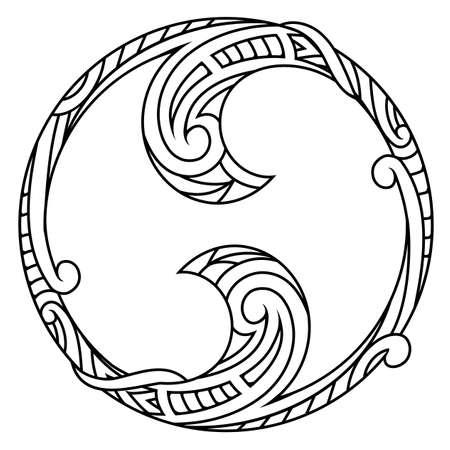 Symmetrical two side ornamental tattoo shape