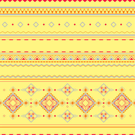 Ethnic seamless pattern in Polynesian style