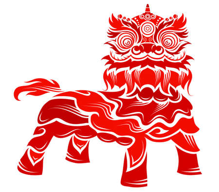 Traditional Chinese lion costume for national festival
