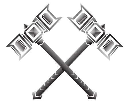 Viking medieval time war hammers