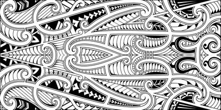 Polynesian traditional ethnic style ornamental print