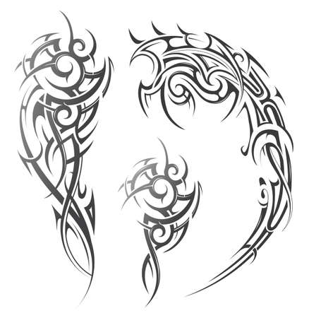 Tribal tattoo in ethnic style. Good for shoulder or sleeve tattoo