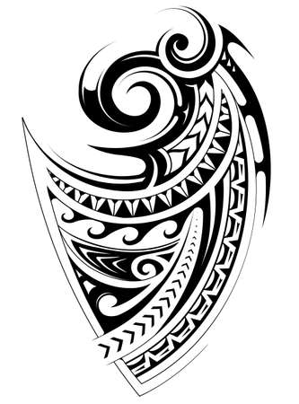 Tribal tattoo inspired by polynesian ethnic ornaments Vectores