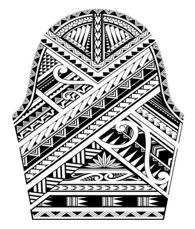 Maori ethnic style sleeve tattoo design