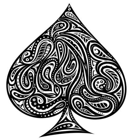 Decorative design for shape of spades