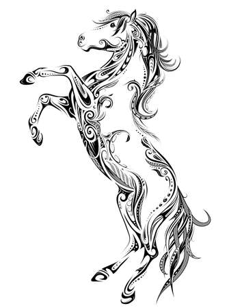 Floral style horse design