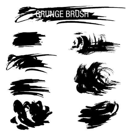 painterly: Vector set of grunge brush strokes Illustration