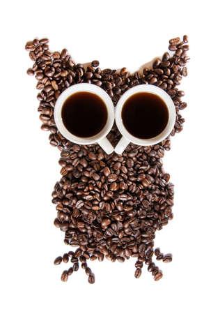 coffee beans on white background photo