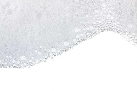 泡泡抽象的な白い背景。洗剤