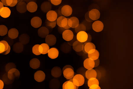 abstract background yellow and orange bokeh lights, Stoke-on photo. Stock Photo