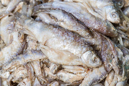 the stinking: food - closed up stinking fermented fish Stock Photo