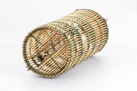 fishery: Bamboo fish-trap with a narrow neck - Thai traditional fishery tool
