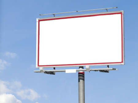 Blank white billboard on blue sky for your advertisement background Stock Photo - 15403385