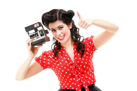 american sexy: style Sexy Patriotic American Girl pin-up retro woman camera