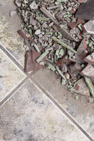 close up of an old pile of bricks floor tile indoor photo