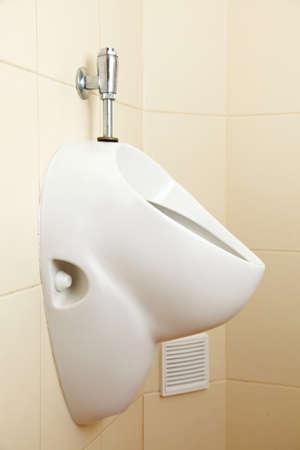 White porcelain urinal, pissoir in public toilets Stock Photo - 18511716