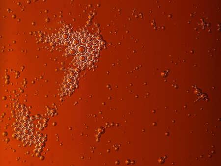 closeup - orange motor oil with bubbles texture background Stock Photo - 18669181