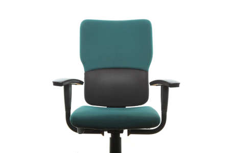 Office green chair isolated on the white background photo