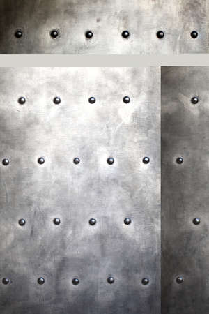 Black grunge metal plate or armour texture with rivets as background Stock Photo - 19219998