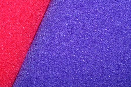 celulosa: Violeta rojo textura celulosa esponja espuma fondo Foto de archivo