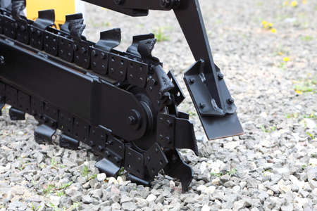 trenching:  Trench digger industry detail machine for trenching