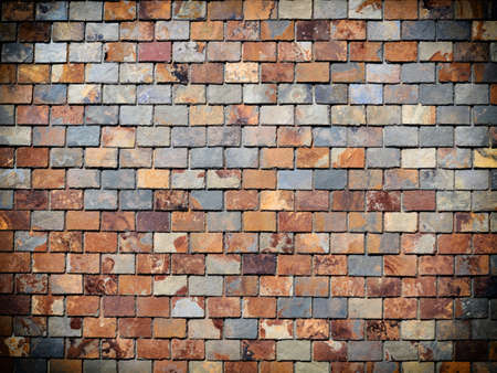 Gray red brick wall texture pattern grunge background photo