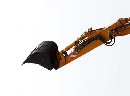 digger: Digger excavator shovel isolated on white background