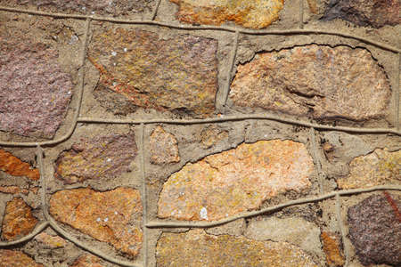 Background of natural stone rock wall photo