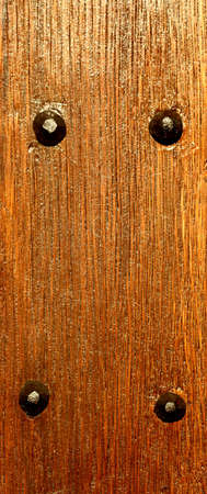Wooden wall texture, brown wood with rivets background Stock Photo - 22027964