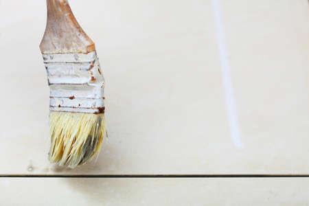 primer: Improvement renovation at home brush primer grout of tiles resistant