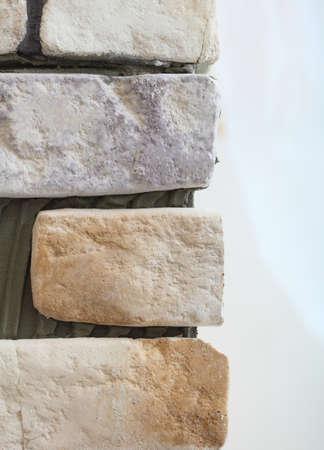 clinker tile: Renovation at home wall clinker tile brick as background texture