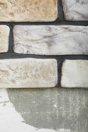 modernize: Renovation at home wall clinker tile glue base and finish for laying tiles