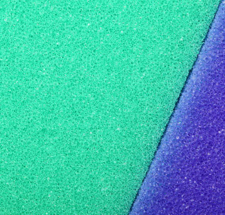 celulosa: Violet verde textura de fondo de espuma de celulosa esponja. Formato cuadrado. Foto de archivo