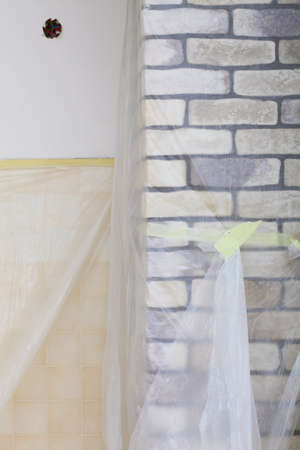 clinker: Improvement renovation at home decorate wall clinker brick tile glue finishing