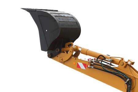 Digger excavator bucket bulldozer shovel industrial detail isolated on white background Reklamní fotografie