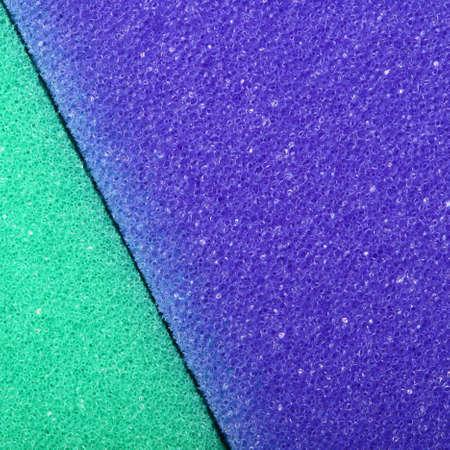 cellulose: Violet verde textura de fondo de espuma de celulosa esponja. Formato cuadrado Foto de archivo