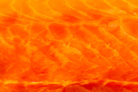 redfish: Closeup macro of fresh salmon. Red fish redfish raw meat as food background texture pattern.