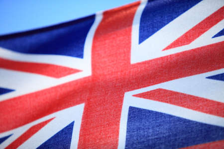 ensign: Close up the UK red ensign the british maritime flag flown from a yacht sail boat