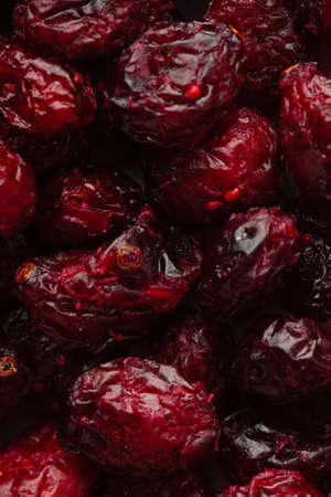 cranberry fruit: Healthy food organic nutrition. Dried cranberries cranberry fruit as background