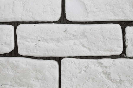 background of white brick wall texture pattern photo