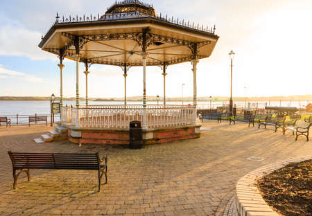 co cork: Kennedy Park with Victorian bandstand (The Prom) in Cobh Co. Cork Ireland Stock Photo
