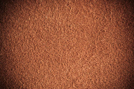 Brown natural leather texture closeup grunge background, skin design abstract pattern. photo
