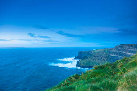 irish landscape: Famous cliffs of Moher in Co. Clare Ireland Europe. Beautiful landscape natural attraction.