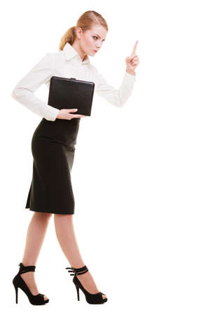 wag: Full length of mad businesswoman boss   Stock Photo