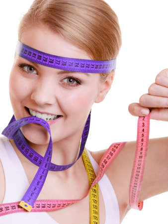 obsessed: Time for diet slimming weight loss concept  Health care healthy lifestyle  Stock Photo