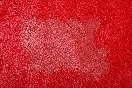 bright space: Red leather texture closeup grunge background with bright space for text Stock Photo
