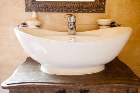 shower stall: Hygiene. Closeup of shower stall unit. Interior of tiled bathroom. Stock Photo